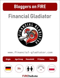 Bloggers on FIRE Profile Card Financial Gladiator exp