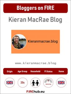 Bloggers on FIRE Profile Card Kieran MacRae Blog exp