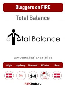 Bloggers on FIRE Profile Card Total Balance exp