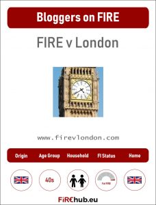 Bloggers on FIRE Profile Card FIRE v London exp